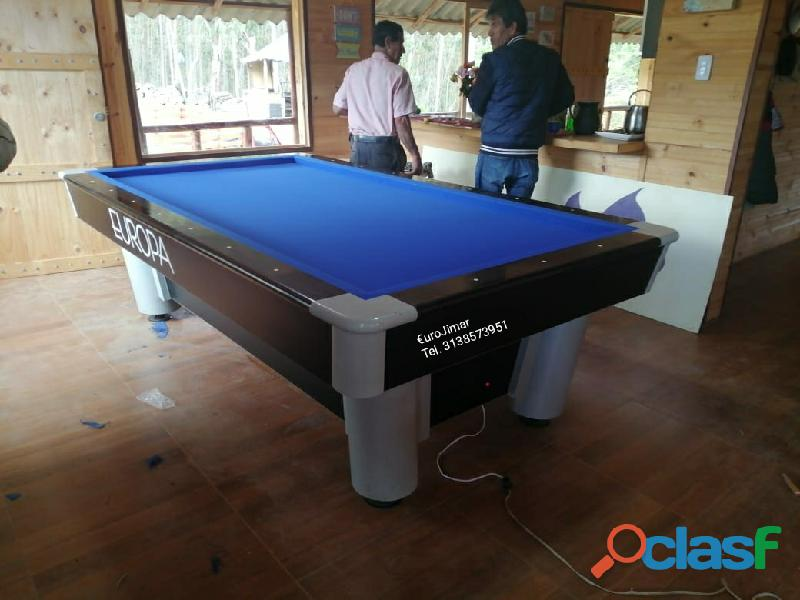 EuroJimar: Fabrica, venta y distribución de mesas de pool y billar. 1