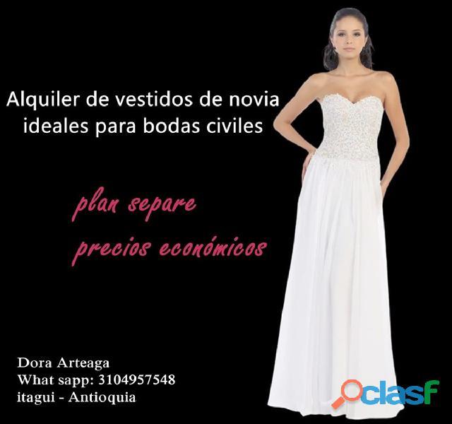 Alquiler de vestidos de novia   boda civil en itagui
