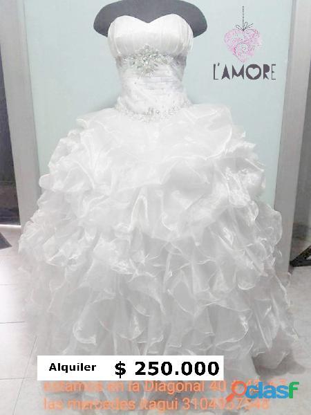 Alquiler de vestidos para novias económicos # matrimonio