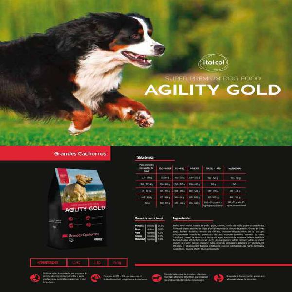 Alimento para perros agility gold