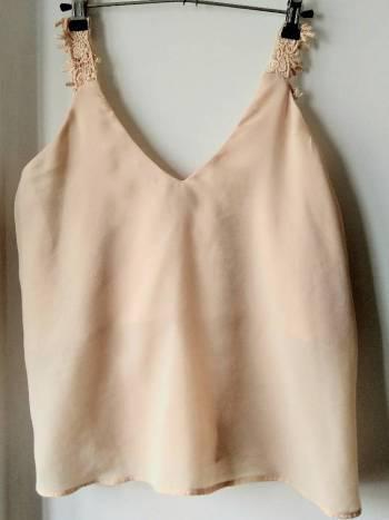 Blusa tiras palo de rosa