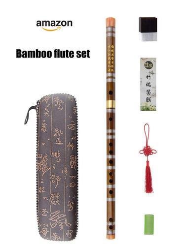 D key dizi bamboo flute para principiantes con membran...