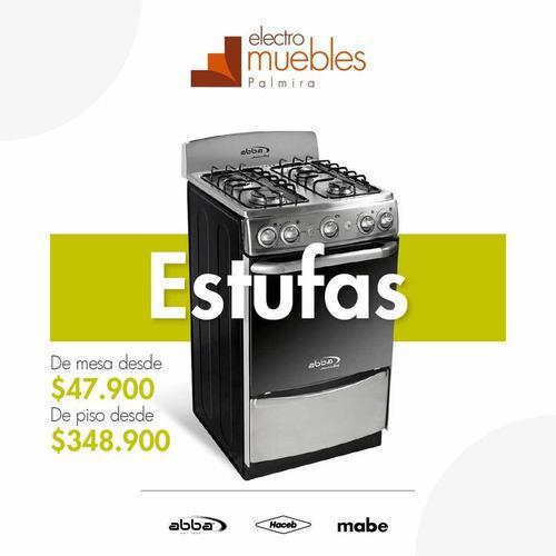 Electrodomésticos: tv, estufa, nevera y lavadora.
