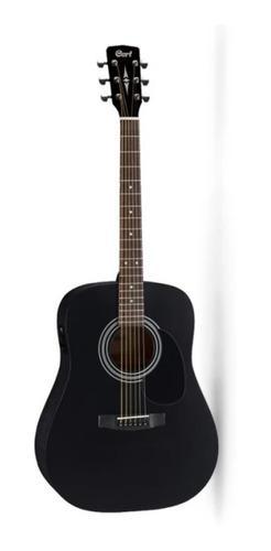Guitarra electro acustica ad810e bks w/bag cort