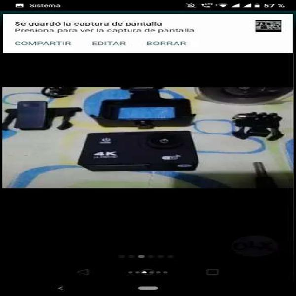 Camara deportiva tipo go pro con wifi 4k en caja