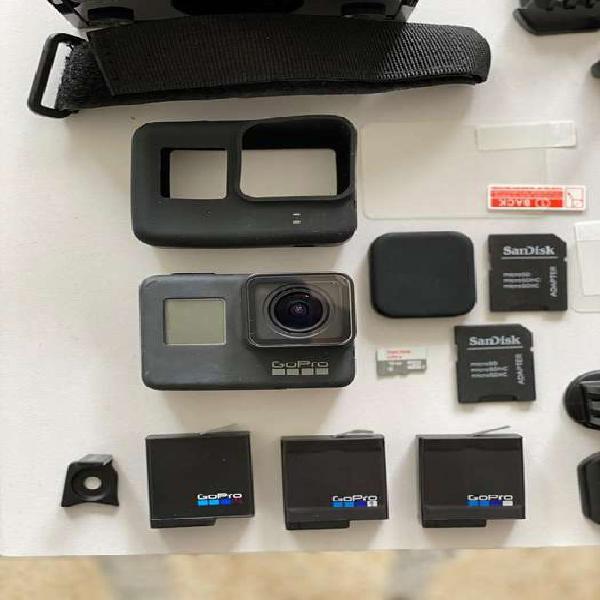 Gopro 7 black ( 3 barerias ) full accesorios