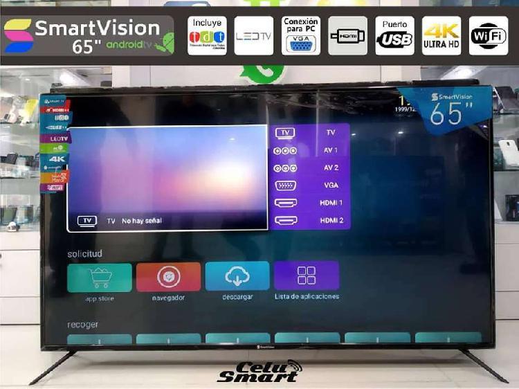 "Tv smartvision 65"" smart tv android 9.0"