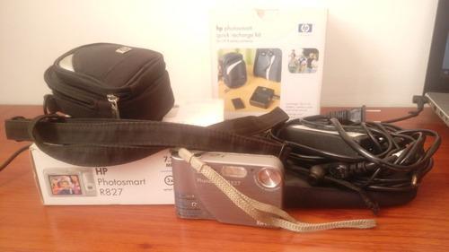 Camara digital hp photosmart r827 + accesorios baratisima