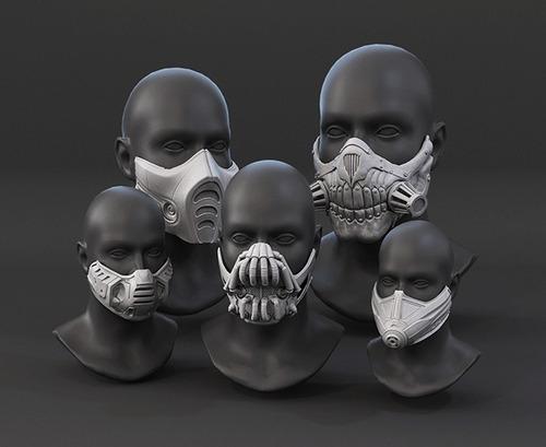 Mascaras tapabocas 3d stl
