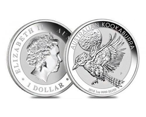 Moneda de plata colección fauna kookaburra de australia