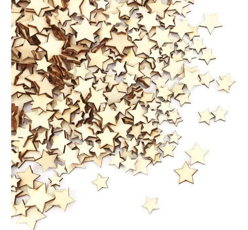 Paquete de 100 estrellas en madera para decorar pintar