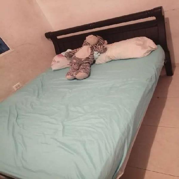 Cama doble con cama auxiliar