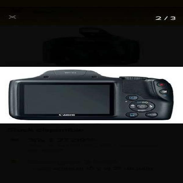 Canon powershot sx530 hs 16.0 mp estuche sd 8gb