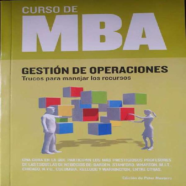 Libro gestión de operaciones curso de mba envio gratuito