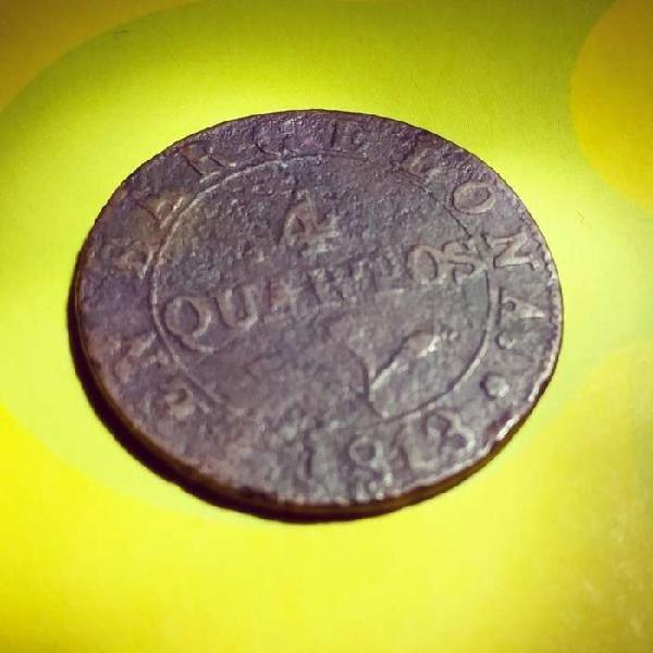 Moneda antigua 1813(206años)
