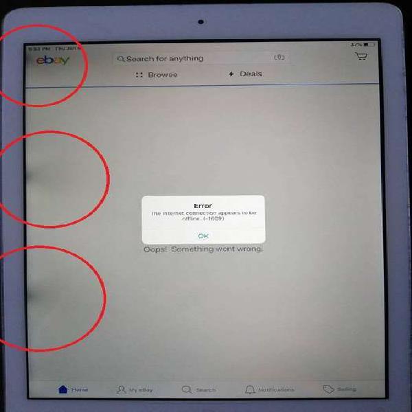 Repuesto para lcd defectuoso apple ipad air a1474