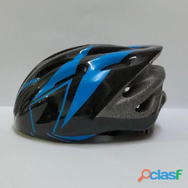 Casco bicicleta montana ruta negro   azul talla m economico