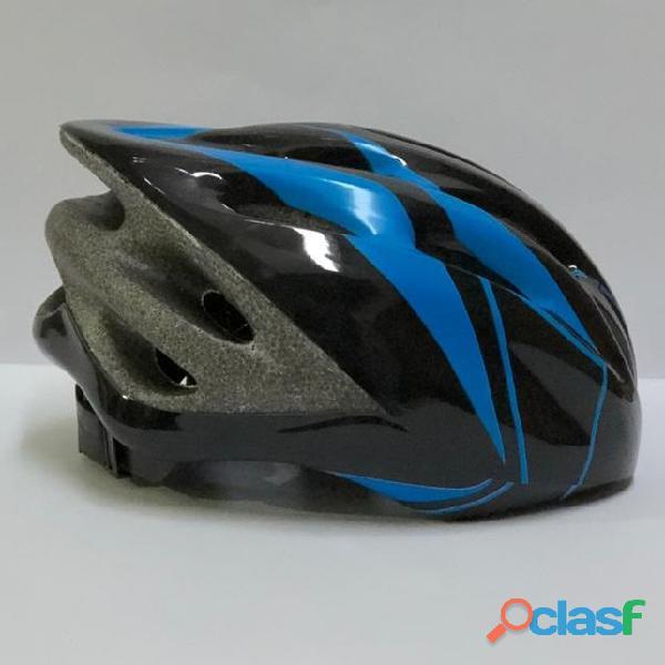 Casco Bicicleta Montana Ruta Negro   Azul Talla M Economico 1