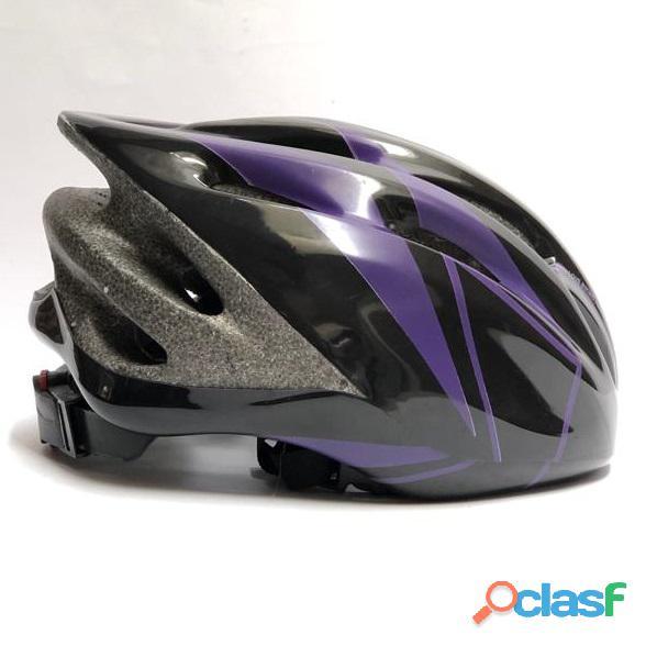 Casco bicicleta montana ruta negro morado talla m economico