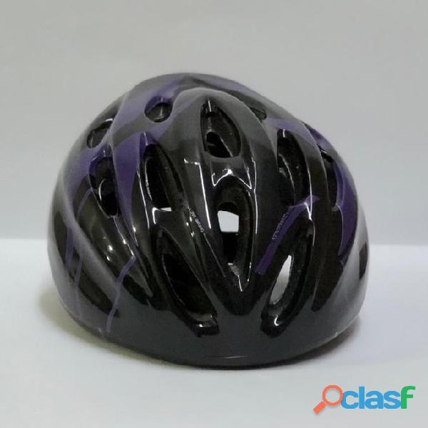 Casco Bicicleta Montana Ruta Negro morado Talla M Economico 1