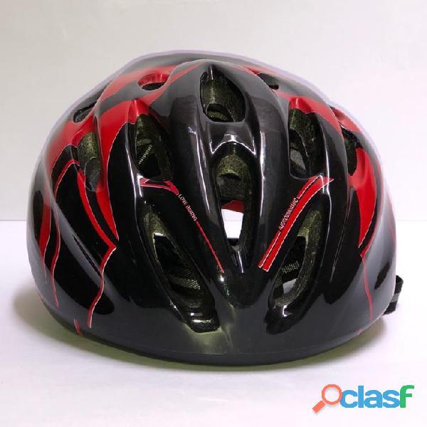 Casco Bicicleta Montana Ruta Negro Rojo Talla M Economico