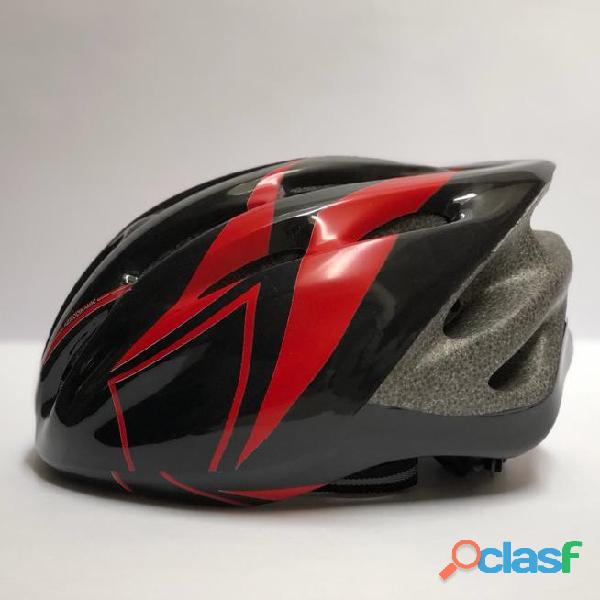 Casco Bicicleta Montana Ruta Negro Rojo Talla M Economico 1
