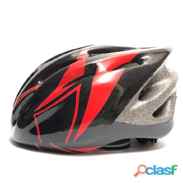 Casco Bicicleta Montana Ruta Negro Rojo Talla M Economico 3