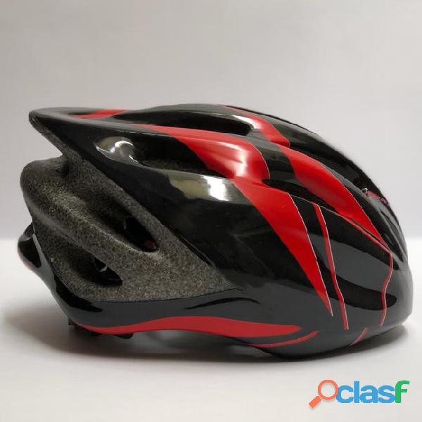 Casco Bicicleta Montana Ruta Negro Rojo Talla M Economico 4