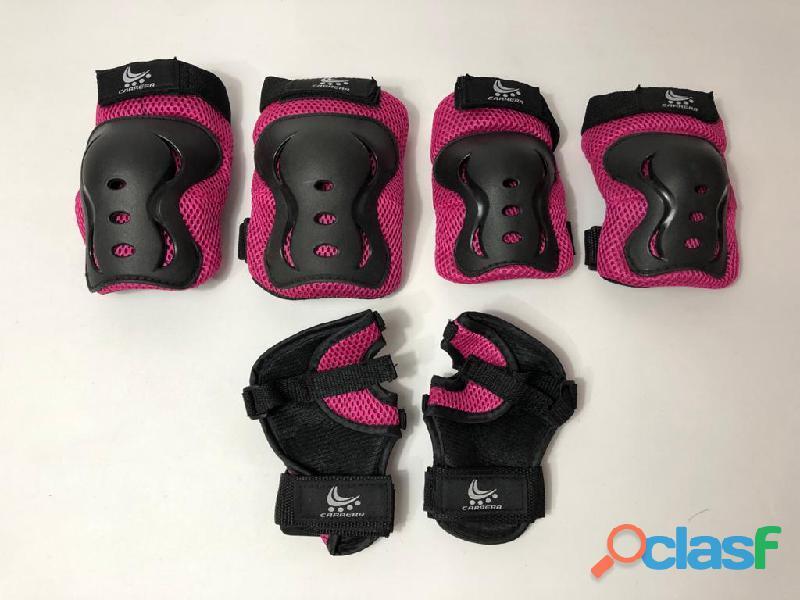 Kit protecciones mujer niños baratos patinaje bicicleta niña