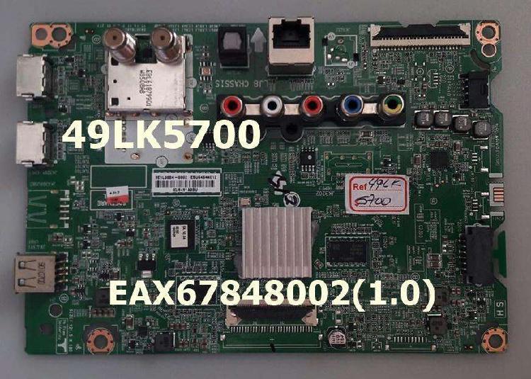 Main board, fuente y tcom para tv lg modelo 49lk5700