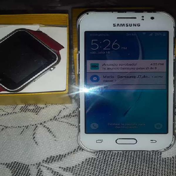 Samsung galaxi j1 ace de 8 gigas y reloj smart watch para