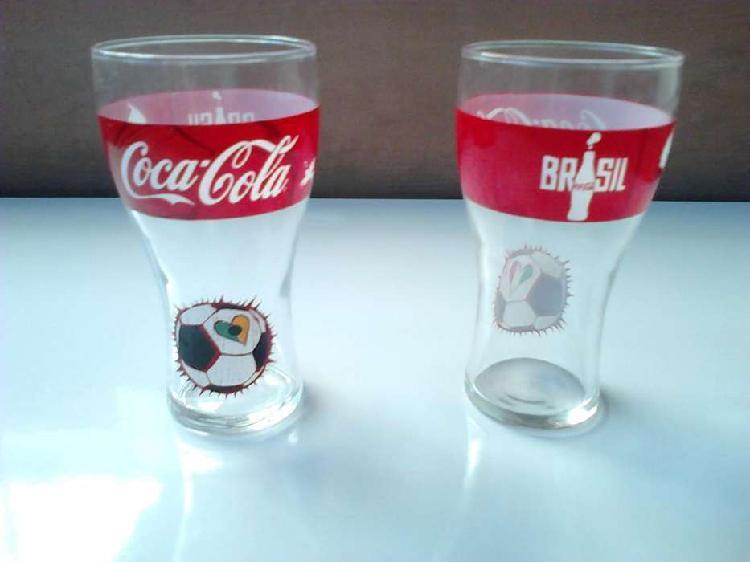Vendo 2 vasos de cristal colección cocacola 2014