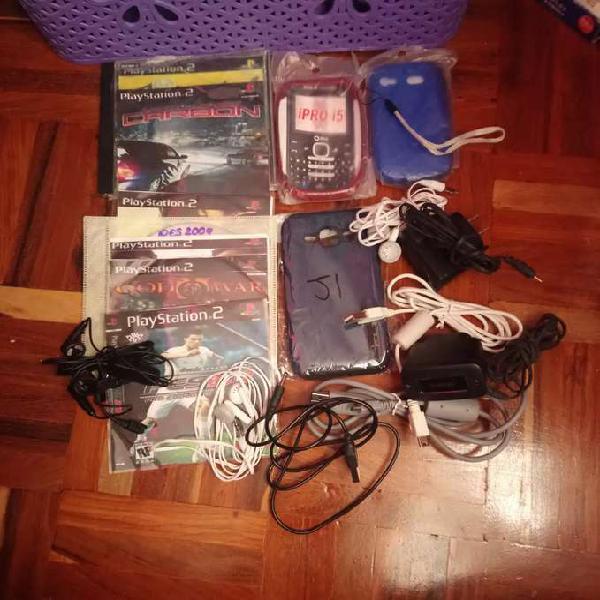 Variedad accesorios celular a y juegos