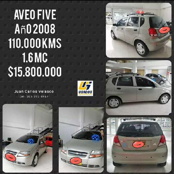 Chevrolet aveo five excelente estado unico dueño.