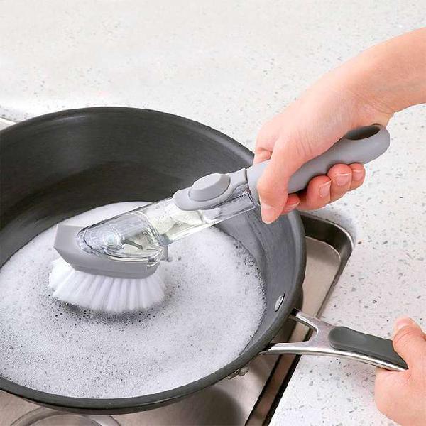 Cepillo multiusos arranca grasa dispensador de jabón rf
