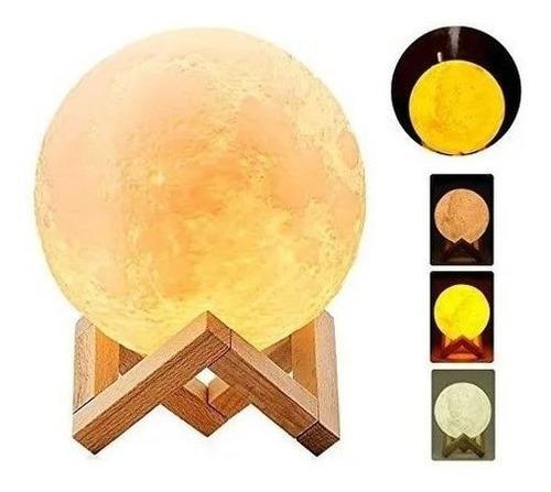 Lampara humidificador difusor luna 3d colores-gratis esencia