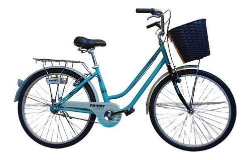 Bicicleta gw friday rin 26 playera acero 1 velocidad+canasta