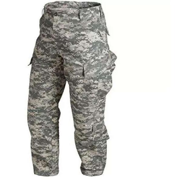 Pantalon camuflado pixelado gris