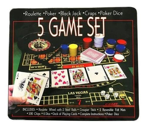 Ruleta casino 5 juegos en 1 black jack poker dados
