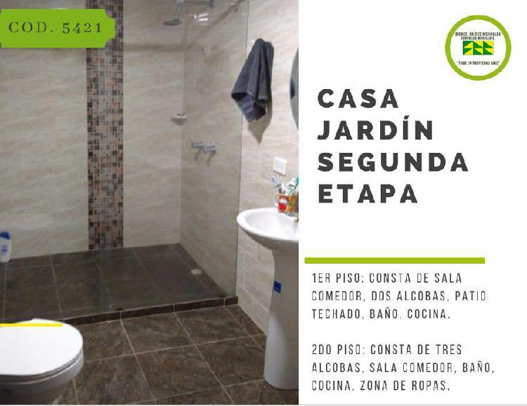 Se vende casa duplex sector jardín segunda etapa cod.5421