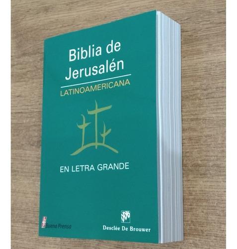 Biblia De Jerusalen En Letra Grande Ed. Latinoamericana