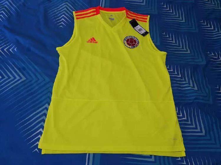 Camiseta musculosa selección colombia adidas