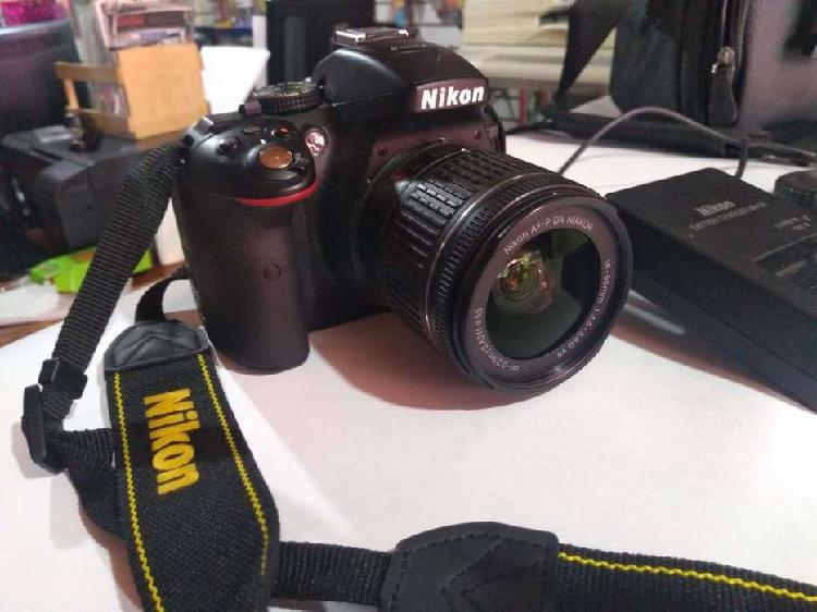 Cámara nikon d5300 réflex + lente 18-55mm vr + maletin +