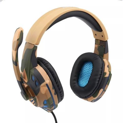 Diadema cascos gamer camuflados komc pro 2 ps4 y xbox one