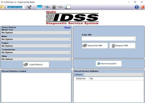 Sistema de servicio de diagnóstico isuzu e-idss [7.2019]