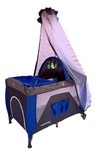 Cuna corral para bebe tipo camping con toldillo