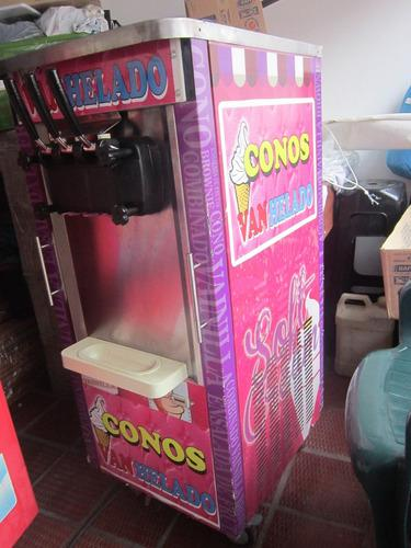 Maquina helado soft 3 boquillas 110 vcambio por una de mesa