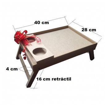 Mesa Desayuno mediana 40 x 28 cm Para Cama Standar Uso