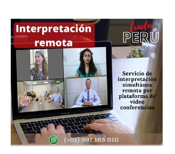 Perú interpretación simultánea