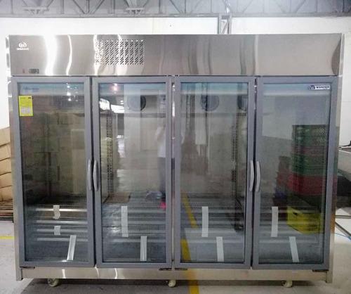 Refrigerador nevera wonder 4 puertas en acero inoxidable